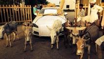 Jaguar XF owner protesting in India