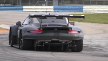 Look at the rear of Porsche's new mid-engine 911 RSR race car