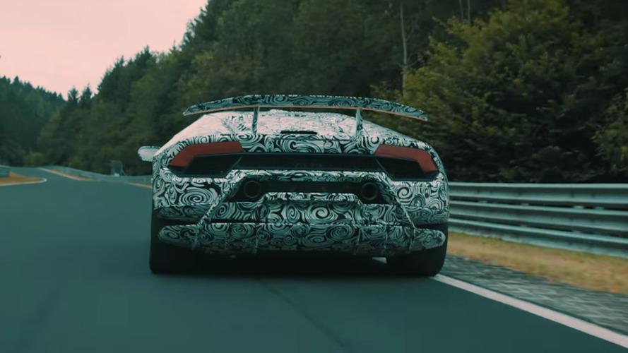 Lamborghini Huracan Performante teaser hints at active aerodynamics