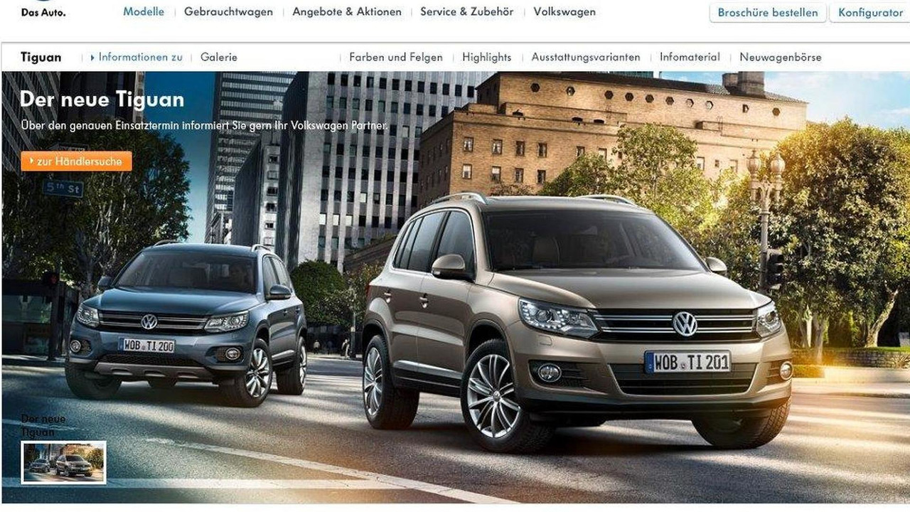 2012 Volkswagen Tiguan facelift screenshot, 900, 03.02.2011
