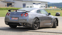 2011 Nissan GT-R facelift spied showing more details outside the Nurburgring