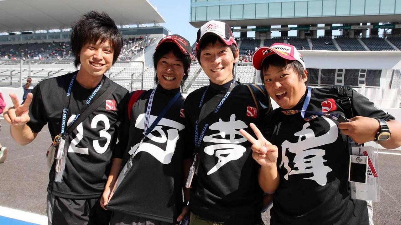 Fans of Kamui Kobayashi (JAP), BMW Sauber F1 Team - Formula 1 World Championship, Rd 16, Japanese Grand Prix, 07.10.2010 Suzuka, Japan