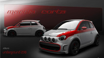 Official renderings of the Camal Fiat 500 Marcia Corta