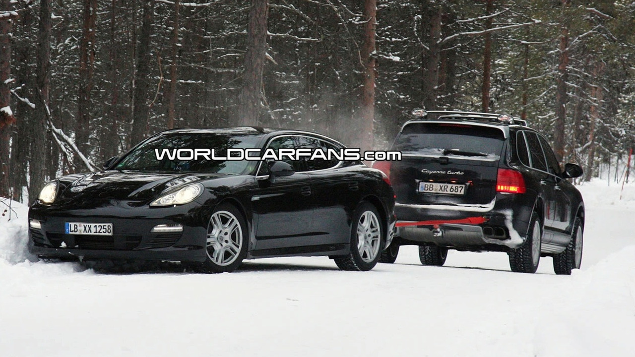 Porsche Panamera Stuck in Snow