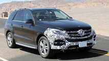 2015 / 2016 Mercedes M-Class facelift spy photo