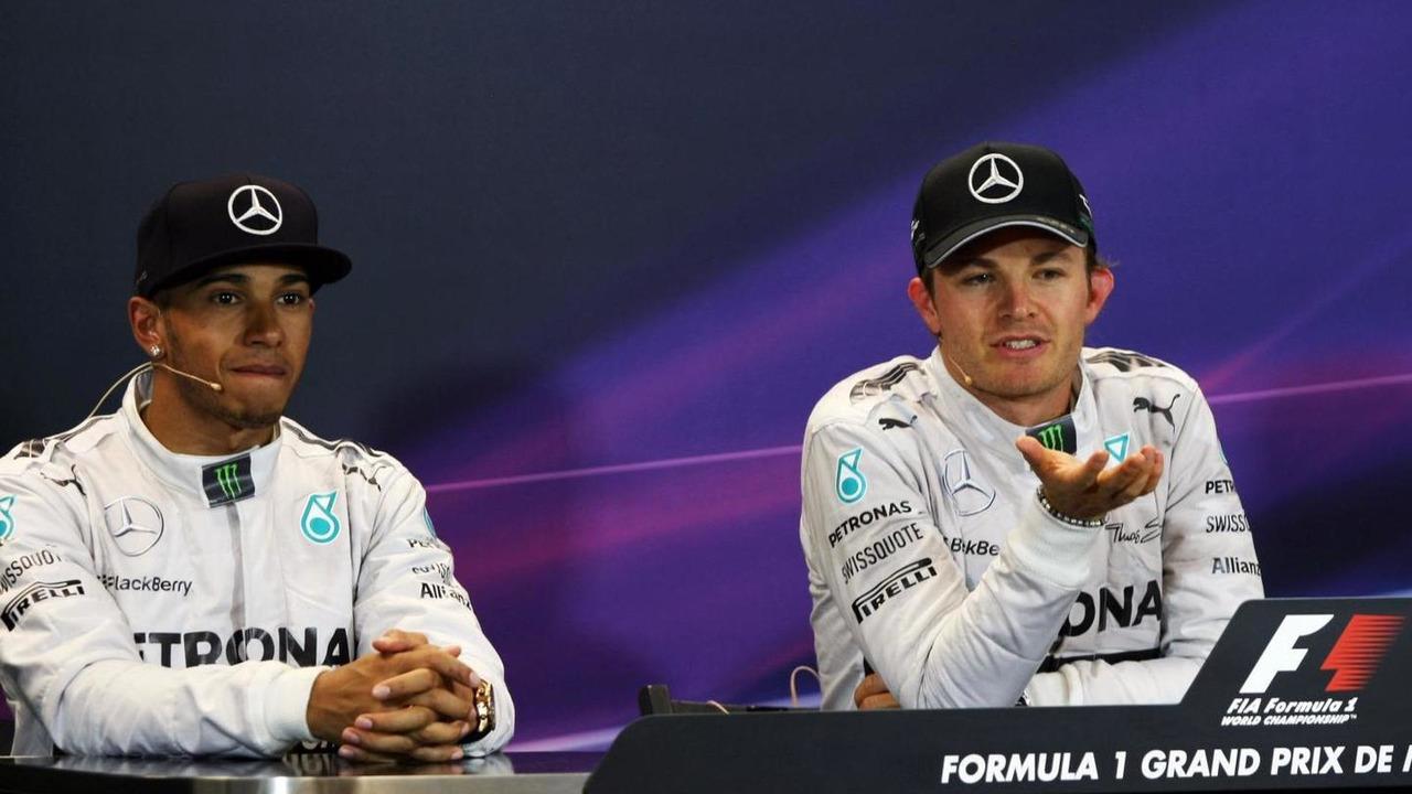 Nico Rosberg (GER) and Lewis Hamilton (GBR) / XPB