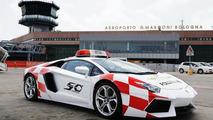 Lamborghini Aventador works as Bologna airport vehicle