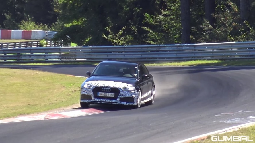 Watch the Audi RS3 Sedan go all out on the Nurburgring