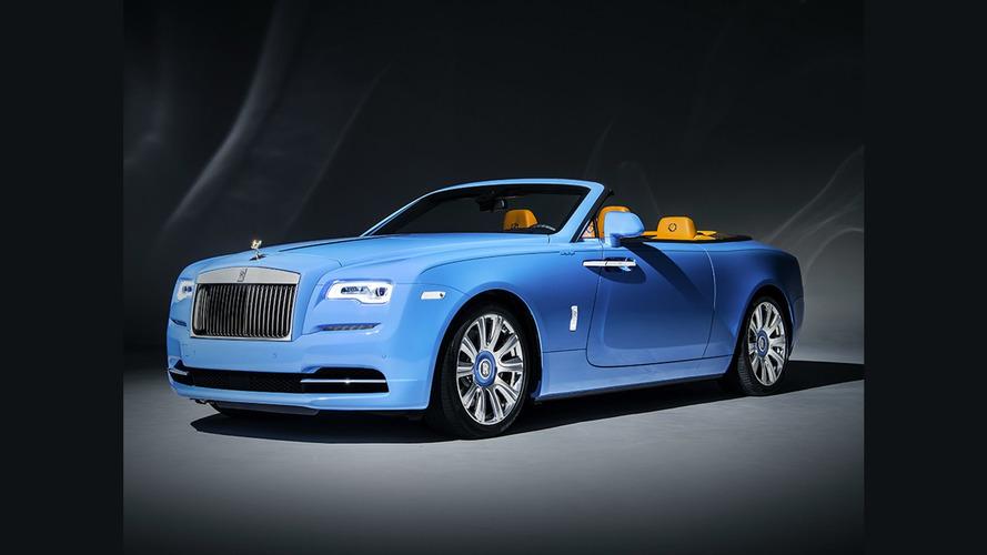 Bespoke Rolls-Royce Dawn gets one-off blue paint