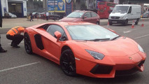 Uninsured Lamborghini Aventador seized by UK police