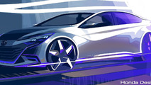 Honda concept teaser photo for 2014 Beijing Motor Show