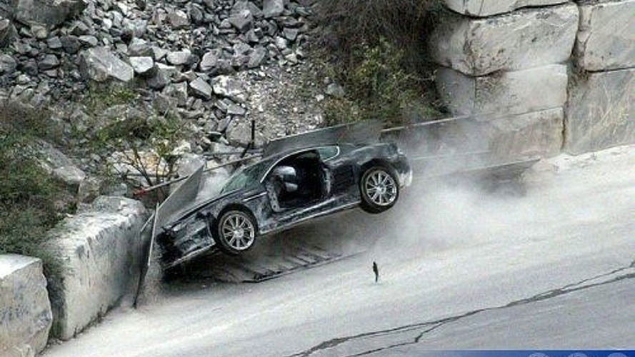 Crashed Aston Martin DBS Confirms James Bond Needs Driving Lessons