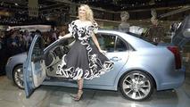 Cadillac BLS & fashion at the Geneva Motorshow