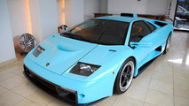 Ice blue 2001 Lamborghini Diablo GT up for sale in Japan