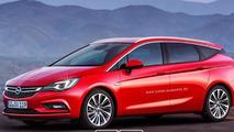 Opel Astra K Sports Tourer rendered