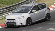 Ford Focus RS test mule spied at the Nurburgring