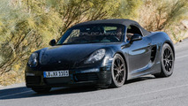 Facelifted Porsche Boxster spied once again