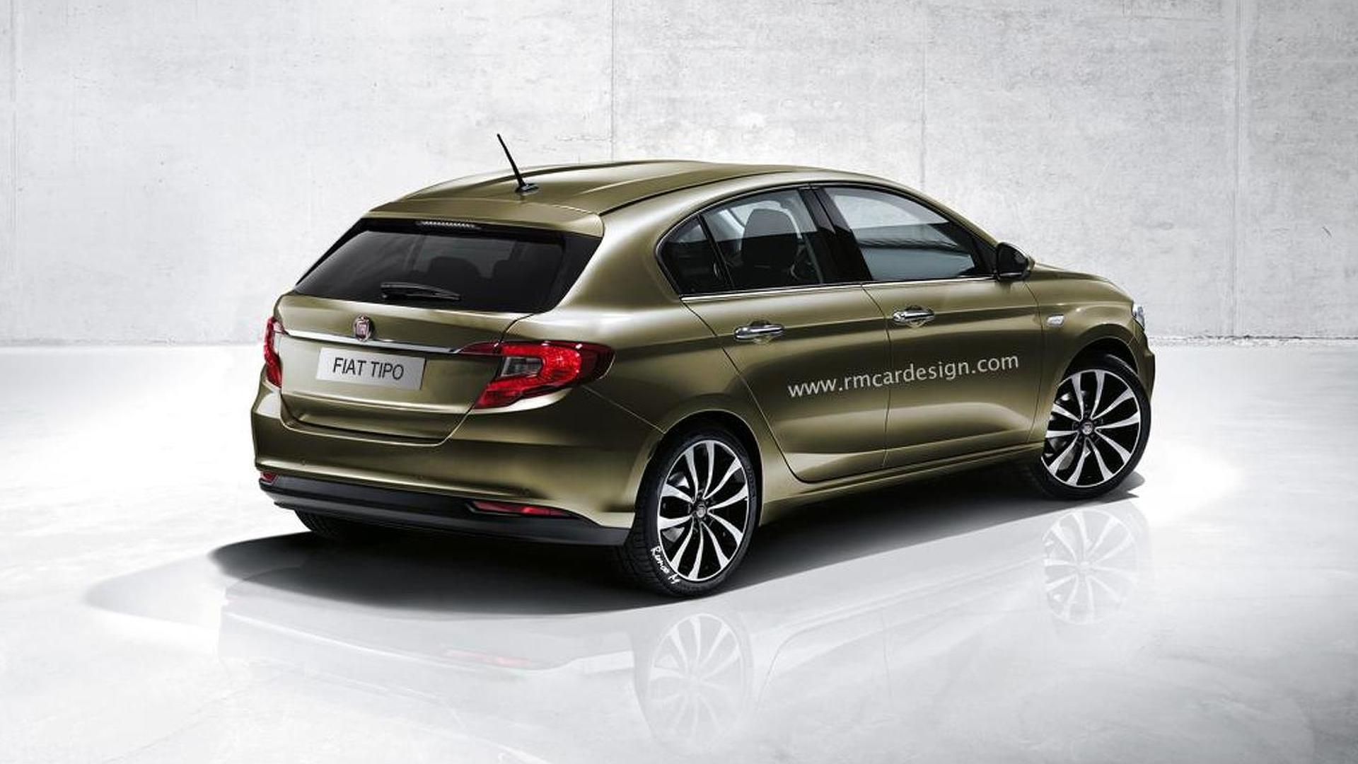 2016 Fiat Tipo hatchback render seems just about right