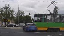 Speeding Audi RS6 driver crashes into tram [video]