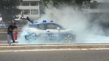 BMW i3 police car fire