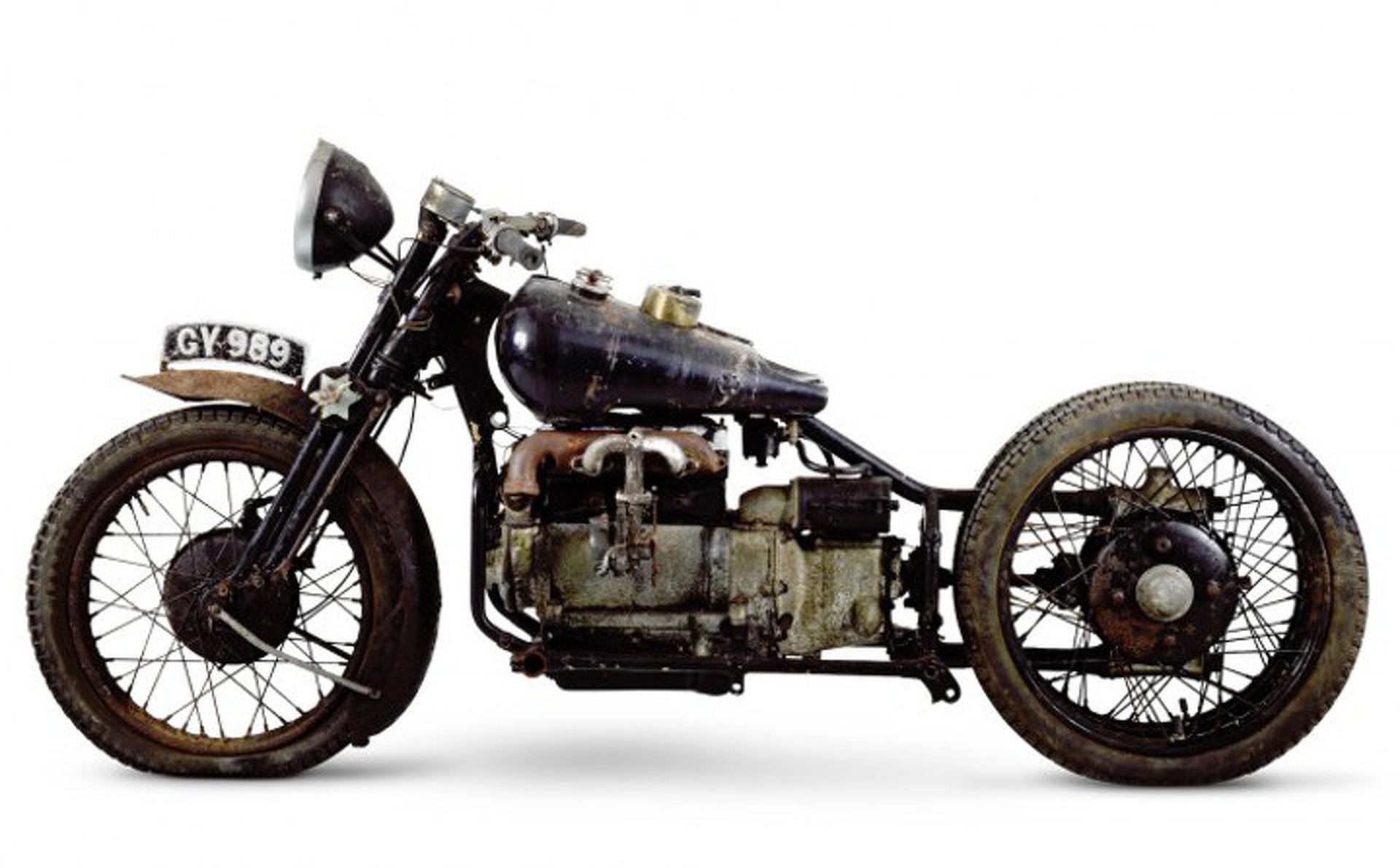 Extremely Rare 3-Wheeled British Motorcycle Heads to Bonhams Auction