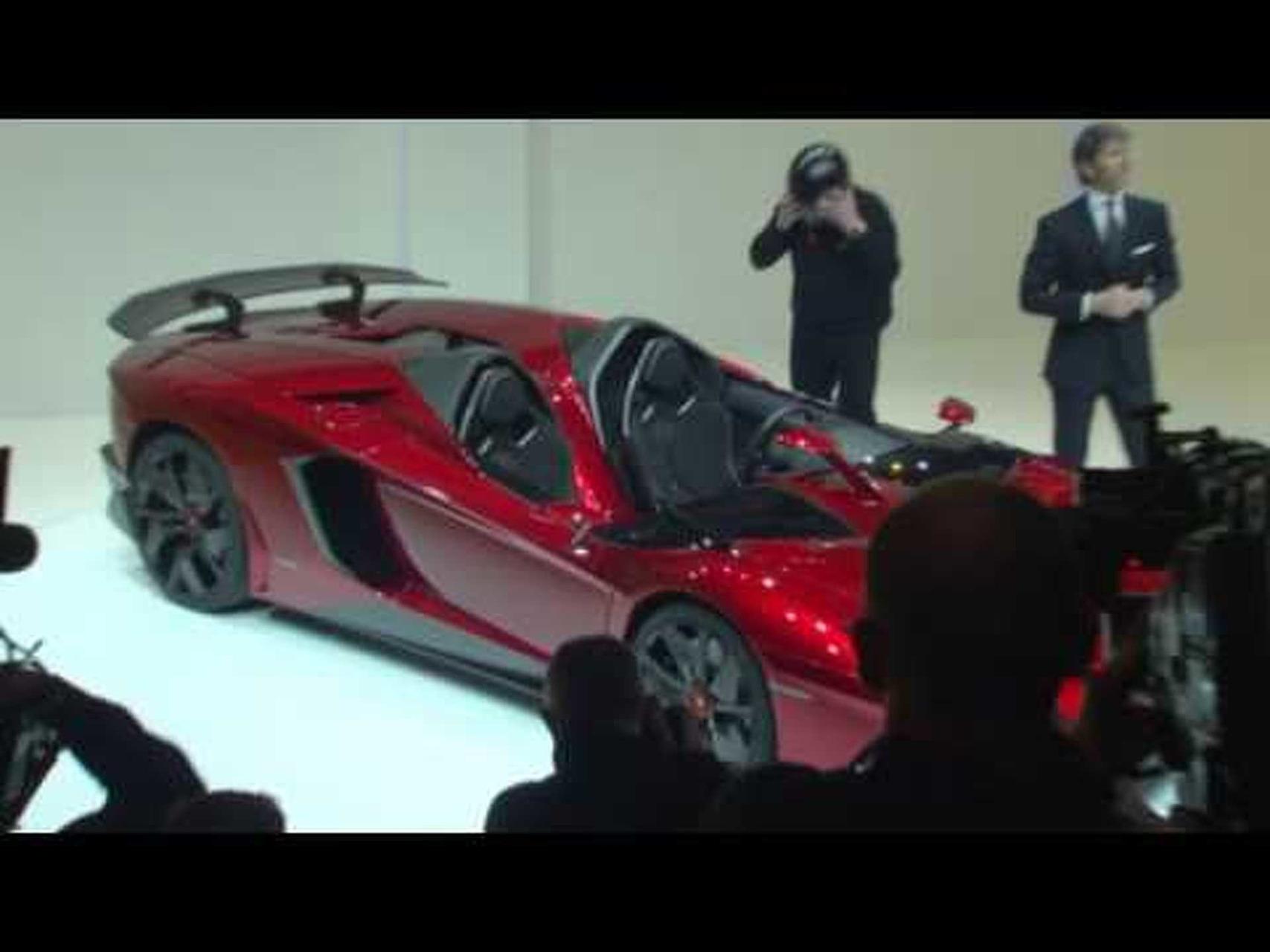 2012 Lamborghini Aventador J Concept Unveiled