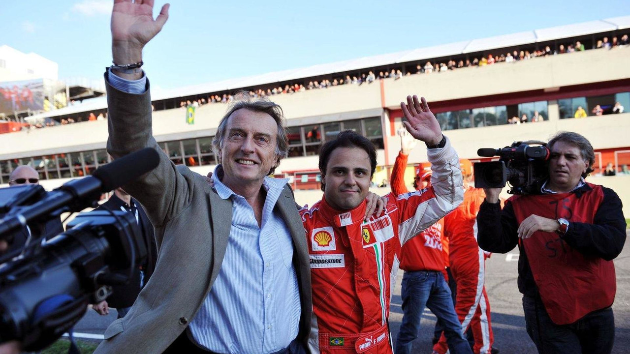 Felipe Massa and Luca di Montezemolo 09.11.2008 Ferrari Days at Mugello Italy