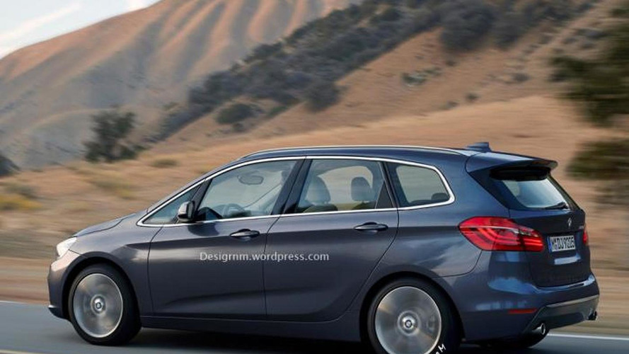 BMW 2-Series Active Tourer seven-seater rendered