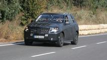 2012 Mercedes M-Class first interior spy photos