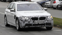 BMW 5-Series Touring facelift spied