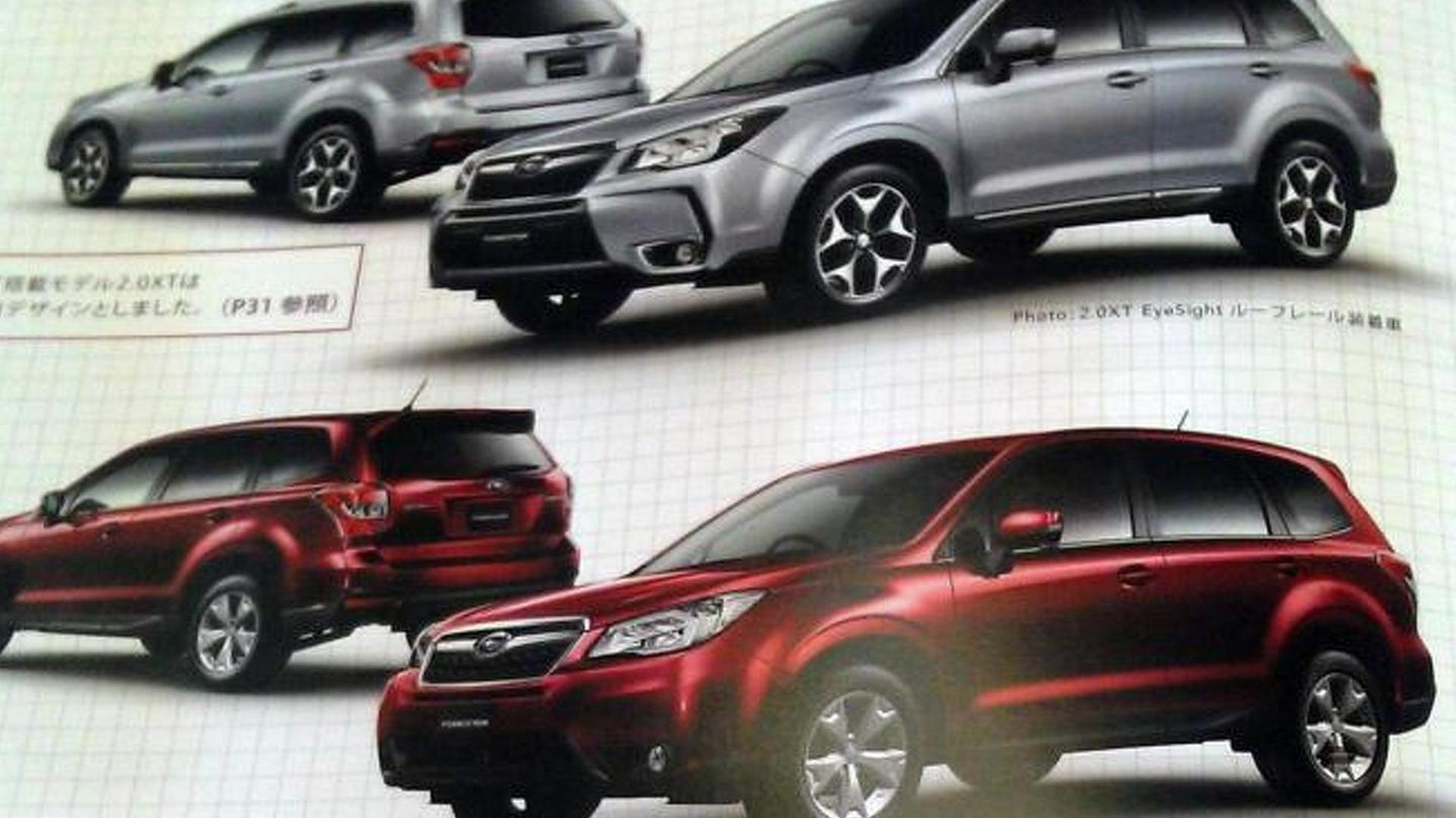 2014 Subaru Forester revealed in leaked brochure