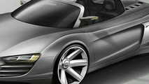 Audi R8 spider design sketch