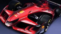 Ferrari Formula 1 car of the future render