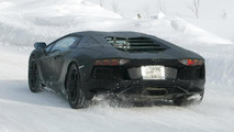 Lamborghini Aventador Roadster prototype spy photo