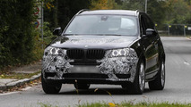 BMW X3 facelift spied