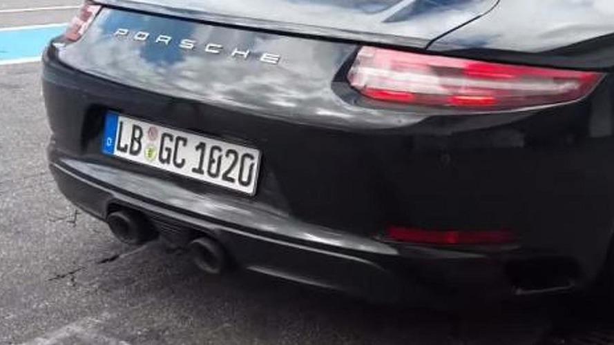 2016 Porsche 911 Carrera S biturbo engine sound recorded [video]