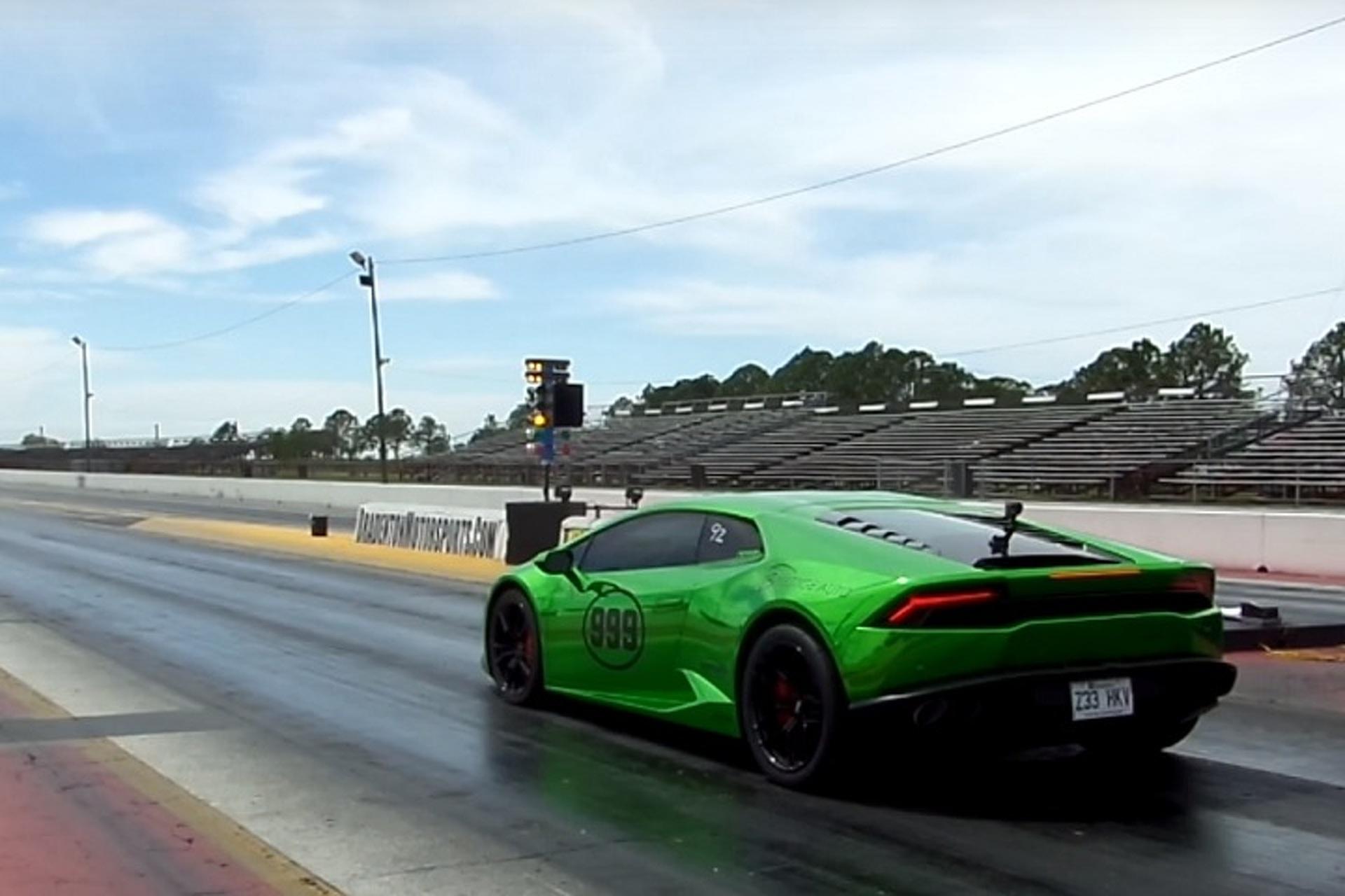 Watch the World's Quickest Lamborghini Destroy a Quarter Mile