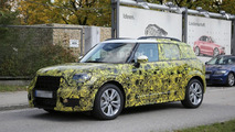 Less disguised 2017 MINI Countryman spied testing alongside hot JCW version