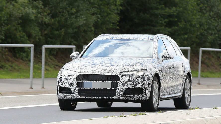 2016 Audi A4 Avant Allroad spied near the Nürburgring