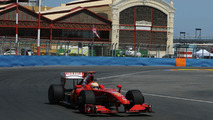 Luca Badoer during Practice for the European Grand Prix at the Valencia Street Circuit
