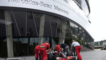Lewis Hamilton's McLaren MP4-23 Arrives at the Mercedes-Benz Museum