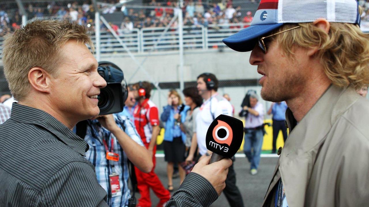 Mika Salo with Owen Wilson 25.11.2012 Brazilian Grand Prix