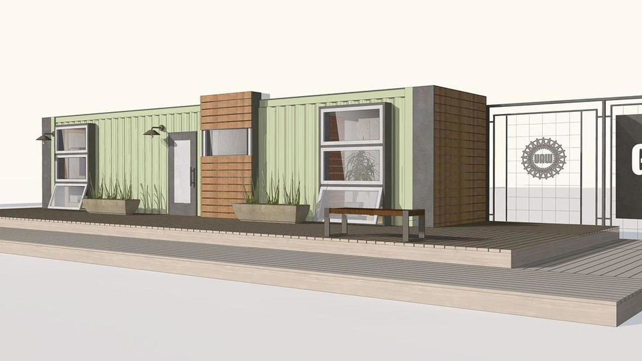 GM shipping container house