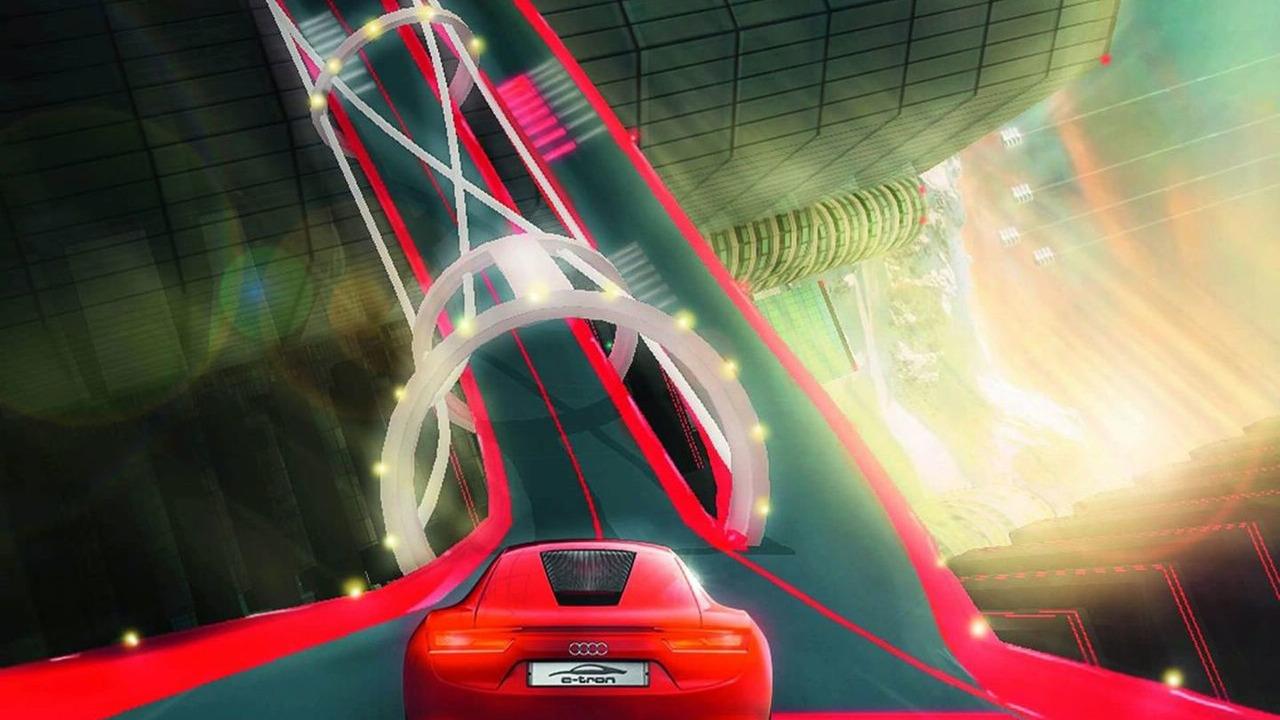Audi e-tron in Playstation 3 game Vertical Run