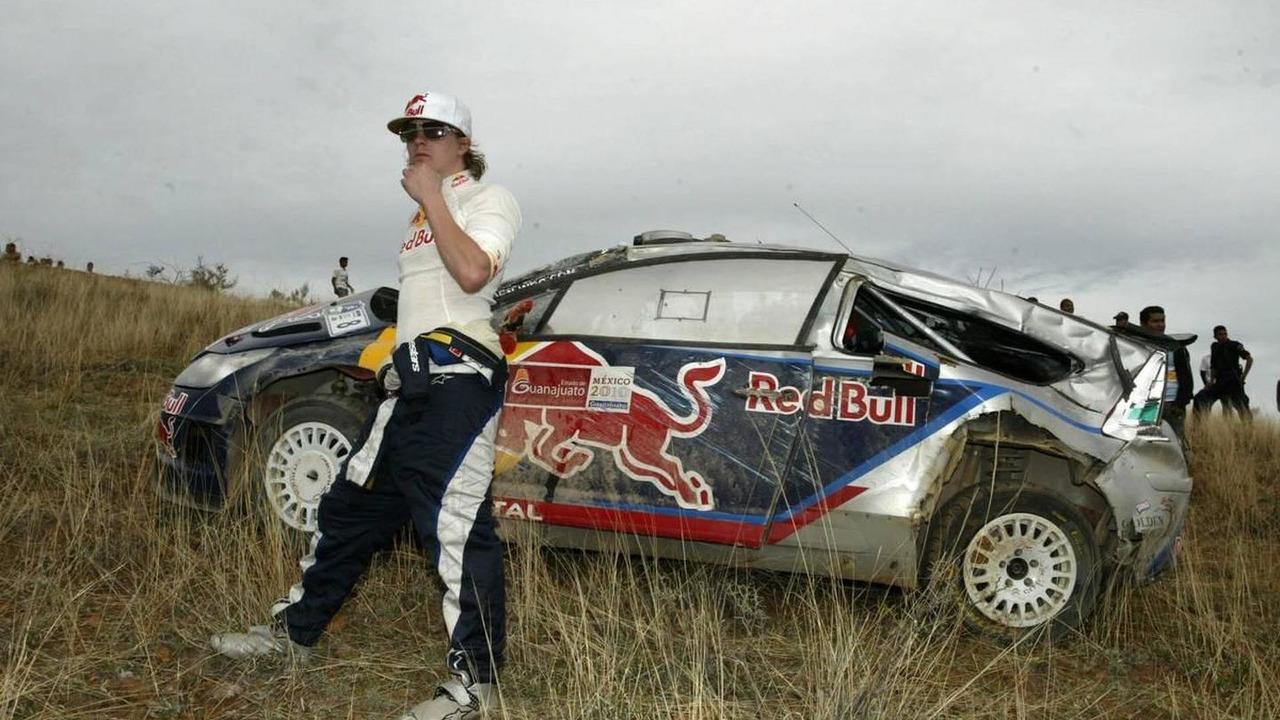 Kimi Raikkonen (FIN) Kaj Lindstrom (FIN), Citroen C4 WRC, Citroen Junior Team, out of the rally - Rally of Mexico, World Rally Championship 2010, Rd 02