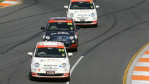 Fiat 500 race cars at F1 GP