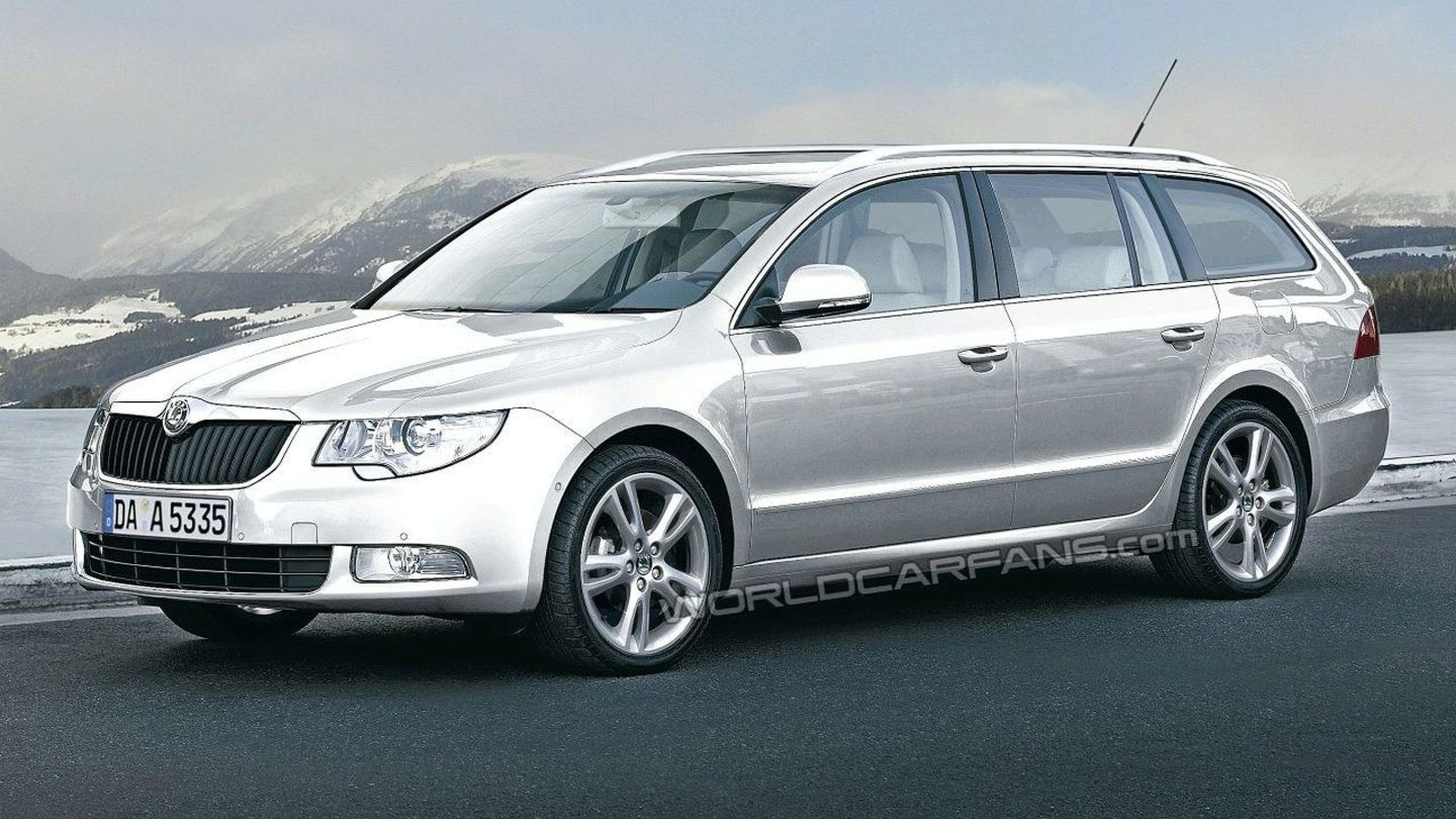 Skoda Superb Estate Spied