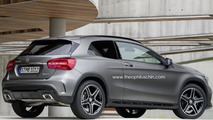 Mercedes-Benz GLA three-door render 10.10.2013