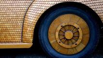 Volkswagen Beetle covered in oak