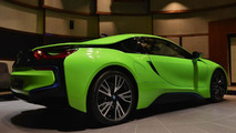 BMW i8 finished in Lime Green is a sight to behold